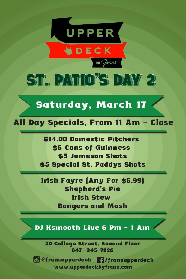 Upper Deck by Fran's - St. Patio's Day 2 2018